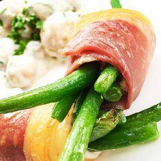 Deliciosa #receta #fitness. ¡Ensalada gourmet con vainitas y jamón!