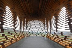 On September 2011 Gijs Van Vaerenbergh revealed Reading Between the Lines in the rural landscape of Borgloon (Limburg, Belgium) that's based on the design of the local church. Architecture Cool, Landscape Architecture, Church Design, Amazing Buildings, Kirchen, Brick, Perspective, Vanishing Point, Google Search