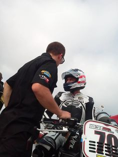 Paul James in for a moment during Sunday's morning warm up at Barber Motorsports Park in AMA Pro Road Racing's Vance & Hines Harley-Davidson XR1200 Series with James Gang/Hoban Brothers Racing.