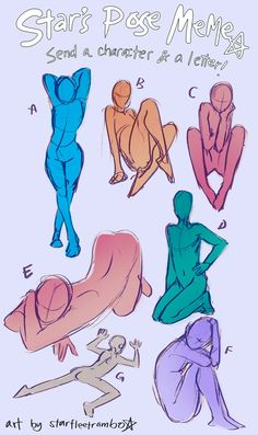 """starfleetrambo: """"I was drawing some random poses when I realized I could turn this into a prompt meme. It can be sfw or nsfw, it depends on you. [pls don't send me prompts] """" Body Reference, Drawing Reference, Drawing Base, Figure Drawing, Drawing Sketches, Art Drawings, Drawing Tips, Drawing Ideas, Sketching"""