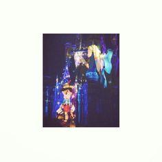 It's glowing brighter anywhere you are #disney#disneyland#onceuponatime#pincchio#bluefairy#cinderellacastle#tdl