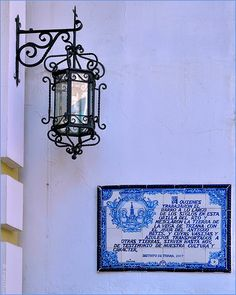 Sevilla : Triana : Lantern and azulejos EXPLORE | Near the d… | Flickr