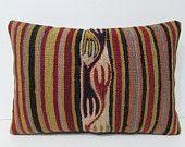 black floor pillow 16X24 ethnic pillow retro fabric turkish fabric antique fabric handmade cushion cover red pillow kilim pillow sham 28650