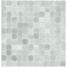 Elida Ceramica�12-1/2-in x 12-1/2-in Recycled Glass Mosaic Gray Ice Glass Wall Tile $8.60 sf Lowes