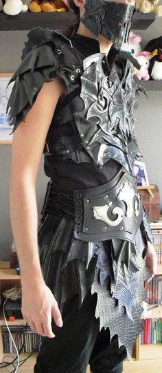 Druchii male leather armor (done) 2 by ~Deakath on deviantART