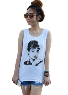 Hey, I found this really awesome Etsy listing at https://www.etsy.com/listing/191052710/audrey-hepburn-pipe-pop-punk-rock