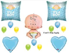 ITS A BOY SLEEPING BABY SHOWER Balloons Decorations Supplies *** To view further for this item, visit the image link.