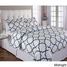 Quatrefoil Cotton 3-piece Duvet Cover Set