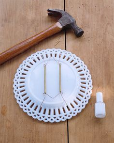 7 Easy (but Super-Impressive) DIY Projects for Common Flea-Market Finds & Flatirons Disc Adhesive Plate Hanger Set (2 - 3 Inch and 2 - 4 Inch ...