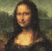 "Triangle Love Monalisa ""Monatrixel"", 5.332 poligons."