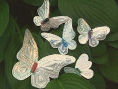 How to make punched tin butterflies