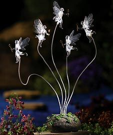 Solar Flying Faries Garden Terrarium Moon Stakes Enchanted Fairy