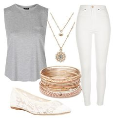 """casual spring day"" by lily-wildersmith on Polyvore featuring LC Lauren Conrad, River Island, Soludos, Topshop and Red Camel"