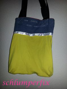 Tasche aus T-Shirts und Jeans / Bag made from shirts and jeans / Upcycling
