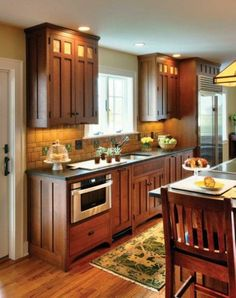 la cuisine en bois massif en beaucoup de photos! | plan de travail