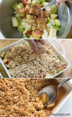 Apple Crisp Recipe from Inspired Taste (So Delicious)