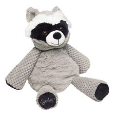"""Rowan the Racoon Scentsy Buddy Cuddly and clever, Rowan the Raccoon is approximately 8"""" tall when seated and approximately 12"""" tall from head to toe. He comes alive with fragrance when you place a Scent Pak in the zippered pocket in his back."""