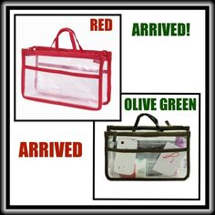 """PURSE INSERT/MAKEUP/TRAVEL ORGANIZERS 11""""x6.7""""x4"""" TRANSPARENT HANDBAG INSERT. Can also be used for home as a COSMETIC ORGANIZER, for TRAVEL, as a BEDSIDE ORGANIZER❣  This is a well-made,clear PVC, , functional, roomy and """"MAKE YOUR LIFE EASIER"""" item that you'll wonder how you ever did without it❣ Bags Cosmetic Bags & Cases"""