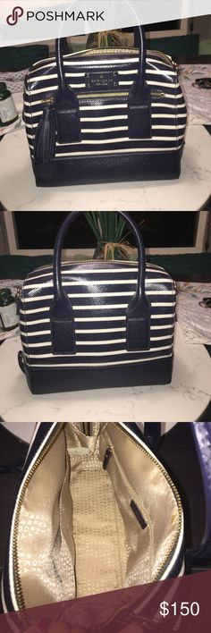 Kate spade bag Navy and white stripes, excellent condition, great accessory for dressing up kate spade Bags