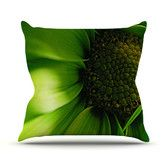 Found it at AllModern - Green Flower Throw Pillow