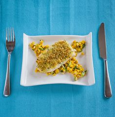 Baked Halibut with Crispy Topping - A lovely crisp topping adds some bite to the smooth creamy fish, gorgeous - http://www.fishisthedish.co.uk/recipes/main-meals/1427-baked-halibut-with-crispy-topping