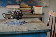 antique rustic farm table