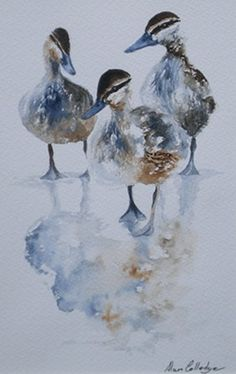 Daddlers, Alan Colledge (watercolour)