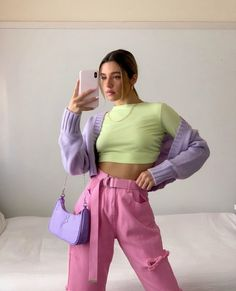 Indie Outfits, Teen Fashion Outfits, Cute Casual Outfits, Aesthetic Fashion, Look Fashion, Aesthetic Clothes, Aesthetic Style, Colourful Outfits, Colorful Fashion