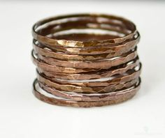 Super Thin Bronze Copper Stackable Rings Bronze Ring