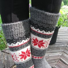 knit socks wool socks knitted socks Scandinavian pattern