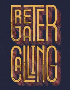 Greater Calling Hand Drawn Type.