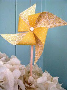 Pinwheel--paper, chopsticks, grommets, thumbtacks