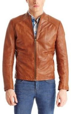 4d2008df156 BOSS Orange Hugo Boss - Jips Leather Jacket  A sleek leather jacket is  always a rugged choice for a spring evening.