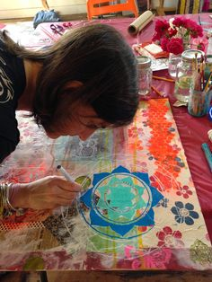 Faith Evans-Sills: Dreamy Painted Mandala Workshop
