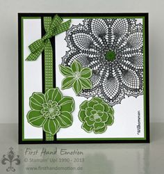 Stampin' UP! by First Hand Emotion: Hello Doily and Secret Garden, IN{K}SPIRE_me Challenge #089