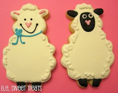 My sweet sheep cookies that I made this week! http://bit.ly/HKptm1