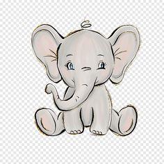 Crown Illustration, Balloon Illustration, Elephant Illustration, Cute Baby Elephant, Little Elephant, Elephant Art, Cartoon Elephant Drawing, Cute Elephant Cartoon, Elefant Clipart