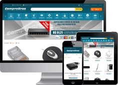 Loja Virtual Magento com layout responsivo da empresa CompraBras que comercializa produtos para o ramo de infra estrutura de redes cabeadas e wireless.  #desenvolvedormagento #programadormagento #lojavirtual #magento #wireless #seguranca