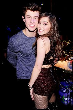 Hailee Steinfeld and Shawn Mendes backstage at Z100's Jingle Ball 2015 at Madison Square Garden in New York - December 11, 2015