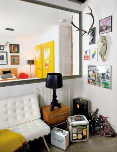 DJ's Loft is the Fusion of Art, Music, Design and Recycling #design #interior #loft #dj #urban #livingroom