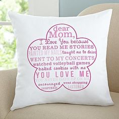 Love You Because Pillow - Mother's Day Gift Idea