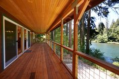 Scharpf Cabin - rustic - Porch - Other Metro - Rainbow Valley Design & Construction - Eugene Lake Forest, Houzz, Porch, Deck, Construction, Rainbow, Cabin, Windows, Rustic