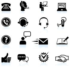 Set of several contact icons with different shapes. 6