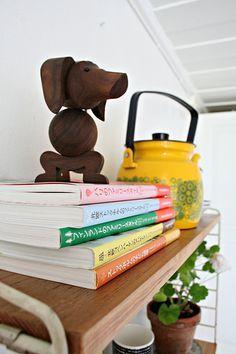 Wooden Animals - Dog / Teckel by Peter Bojesen - Deens Design. Verkrijgbaar bij www.zinaantafel.nl