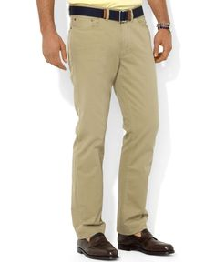 Polo Ralph Lauren Core Pants, Flat Front Straight-Fit 5-Pocket Chino Pants