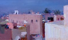 Many of the buildings in the old Medina of Marrakesh have these rooftop terraces, since all the roofs are flat. They make great painting locations.