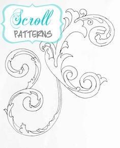 Scroll Patterns – Free Printables for painting, sewing, scrapbooking or just having fun coloring!