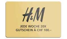Gewinne mit der #UBS jede Woche 20 x 1 #H&M-Gutschein im Wert von je CHF 100.- , sowie 25 x 2 Tickets für die H&M-Shopping-Night. Zum #Gewinnspiel: http://www.alle-schweizer-wettbewerbe.ch/hm-gutschein-gewinnen