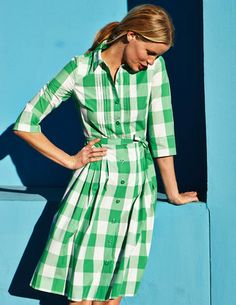 I've spotted this @BodenClothing Gingham Shirt Dress