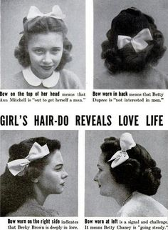 1940s Hairstyles & What They Revealed About A Girl's Love Life